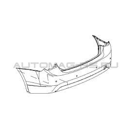Бампер задний Шевроле Круз, Chevrolet Cruze седан, без парктроников (аналог)