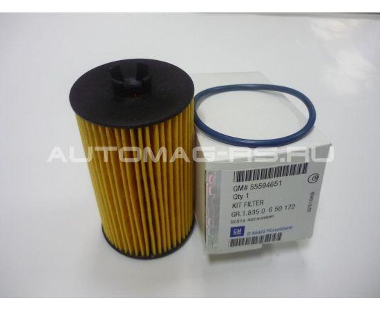 Масляный фильтр (картридж) Опель Зафира Б, Opel Zafira B бензиновые двигатели (оригинал)