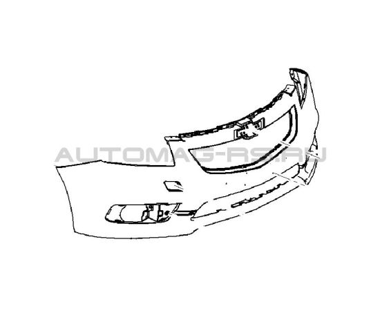 Бампер передний Шевроле Круз, Chevrolet Cruze дорестайлинг (оригинал)