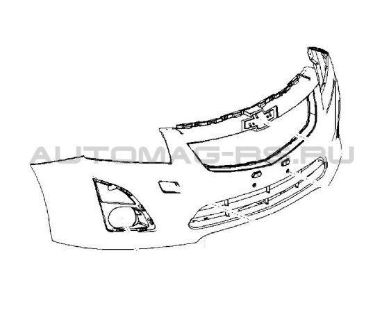 Бампер передний Шевроле Круз, Chevrolet Cruze рестайлинг (оригинал)