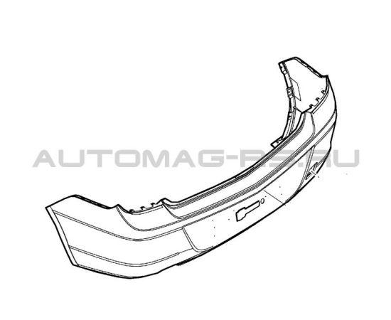 Бампер задний Шевроле Кобальт, Chevrolet Cobalt (оригинал)